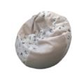 Bulldogos-beige mini csepp babzsák formapárnákkal