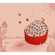 Kagyló babzsákfotel katicás mini