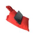 Mobiltartó babzsák nyuszifüles, piros
