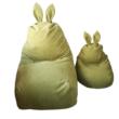 Zöld nyuszis babzsák felnőtt méretben