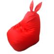 Piros nyuszis babzsák közepes méretben