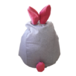 Szürke-pink nyuszis babzsák mini méretben