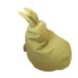Zöld nyuszis babzsák mini méretben