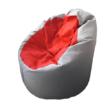 Világosszürke-piros standard babzsák