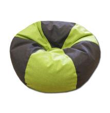 Zöld-barna gömböc alakú babzsák