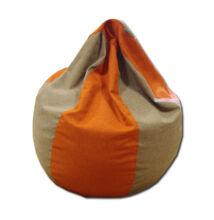 Csepp alakú felnőtt babzsákfotel, beige-narancs