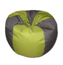 Szürke-zöld csepp alakú babzsák