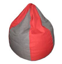 Piros-szürke csepp alakú babzsák