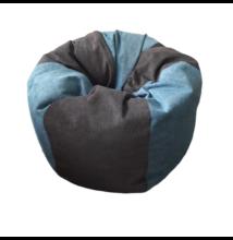 Kék-szürke puha csepp alakú babzsák