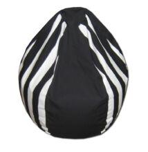 Fekete-fehér csíkos mini csepp babzsák
