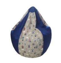 Világítótornyos-kék mini csepp babzsák