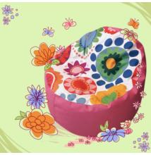 Kagyló babzsákfotel gyerekeknek pink virágos