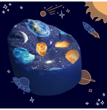 Kagyló babzsákfotel gyerekeknek űrös