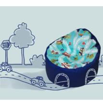 Kagyló babzsákfotel gyerekeknek utas