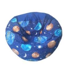 Bolygós-középkék mini fánk babzsák