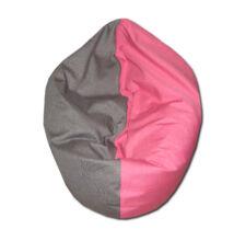 Pink-szürke multifunkcionális babzsák