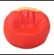 Narancs-piros vízlepergetős, kültéri multifunkcionális babzsák