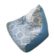 Szürke-mandalás-kék piramis babzsák
