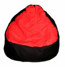 Piros-fekete vászon relax fazonú babzsák