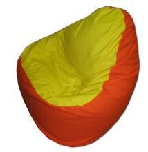 Sárga-narancs vászon relax fazonú babzsák