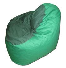 Zöld-sötétzöld vászon relax fazonú babzsák
