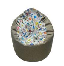 Bagoly-viágosbarna közepes fotel fazonú babzsák