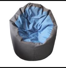 Középszürke-kék standard babzsák