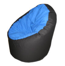 Kék-fekete vászon standard babzsák