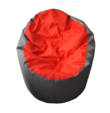 Középszürke-piros standard babzsák