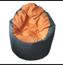 Középszürke-narancs standard babzsák