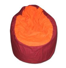 Narancs-bordó vászon standard babzsák