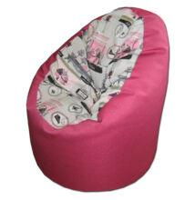 Párizs-pink standard kamasz babzsák