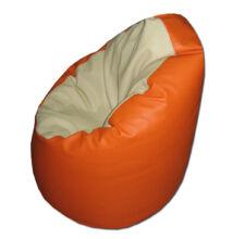 Babzsákfotel textilbőr beige-narancs
