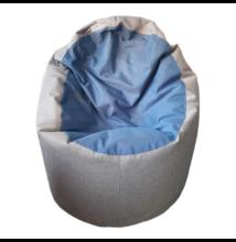 Világosszürke-kék standard babzsák