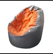Világosszürke-narancs standard babzsák