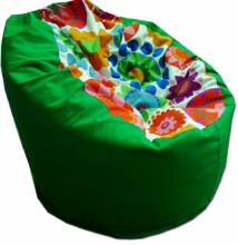 Zöld-virágos standard babzsák