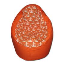 Narancs-cicás közepes fotel fazonú babzsák