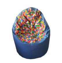 Lego-kék közepes fotel fazonú babzsák