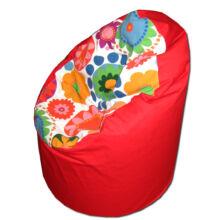 Piros-virágos kamasz babzsák