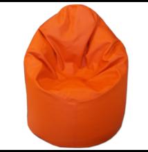 Narancssárga textilbőr kamasz babzsák