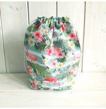 Basket obag táska belső flamingós, csíkos