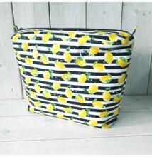 Classic obag táska belső csíkos, citromos