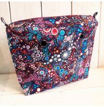 Mini obag táska belső buborékos kék-lila