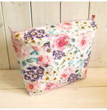 Mini obag táska belső lila pink-lila virágos