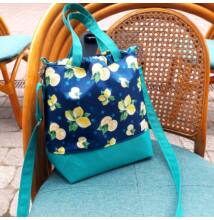 Rosie táska kék, citromos