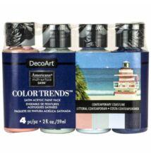 DecoArt Americana multi-surface selyemfényű akril festék, szett, Contemporary Coastline
