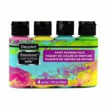 DecoArt Americana multi-surface selyemfényű akril festék, szett, Brights