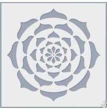 Stencil pontfestéshez, lotus