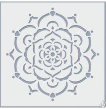Stencil pontfestéshez, virág
