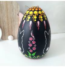 Pontfestett kerámia tojás nyuszis